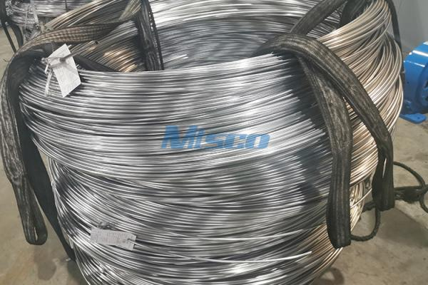 ASTM A789 S32750/2507 Stainless Steel Duplex Coiled Tubing With BA Surface