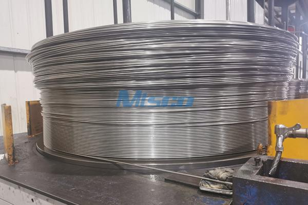 TP304L/S30403 Welded Stainless Steel Single Core Coiled Tubing For Chemical Industry