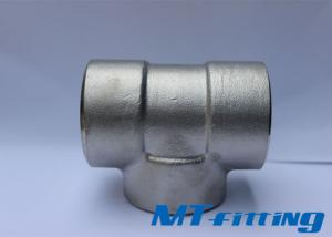 ASME B16.11 F317L Stainless Steel Socket Welded Tee For Connection