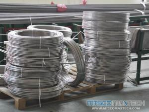 ASTM A213 Bright Stainless Steel Coiled Seamless Tubing