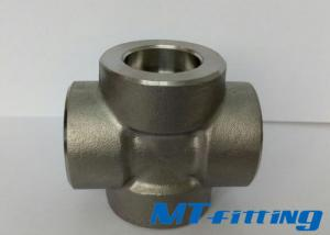 F321 / 317L Stainless Steel Socket Welded Cross Forged High Pressure Pipe Fitting