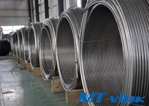 S30400 / S30403 ASME SA269 Stainless Steel Welded Super Long Coiled Tube For Cable Industry
